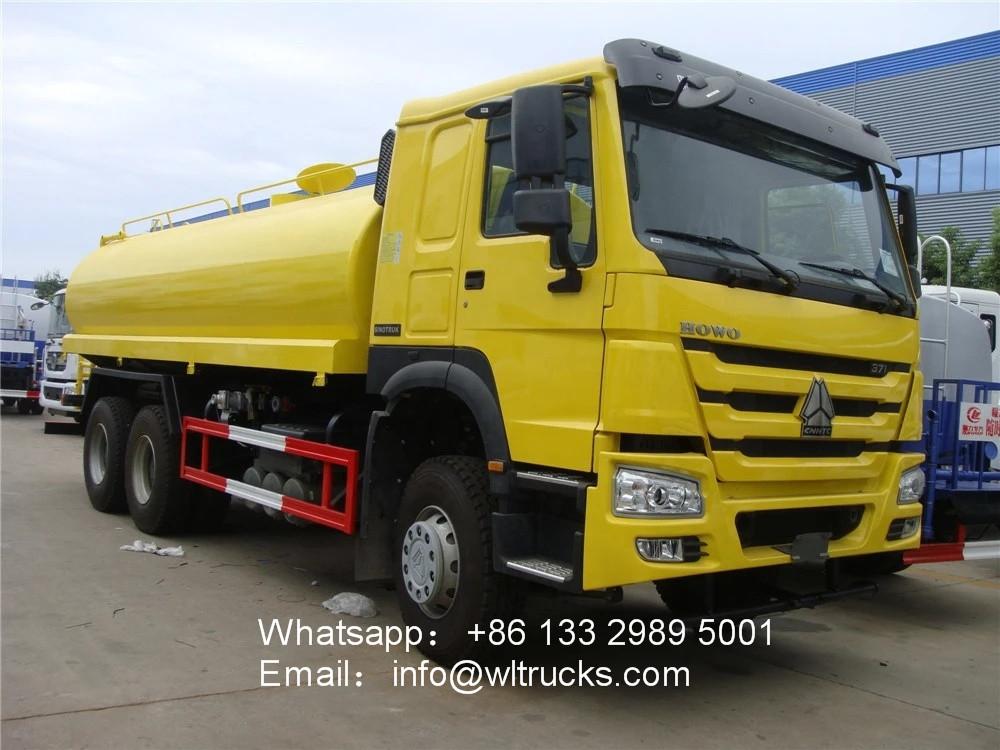 6x4 Sinotruk howo 18000l to 20000l water tank truck
