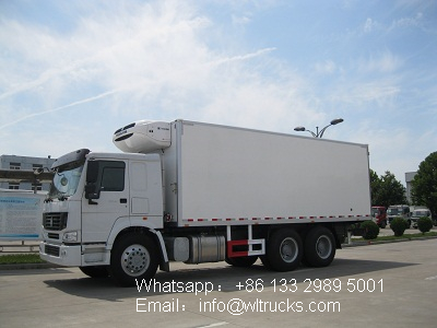 6x4 Sinotruk howo 18ton to 20ton refrigerated truck