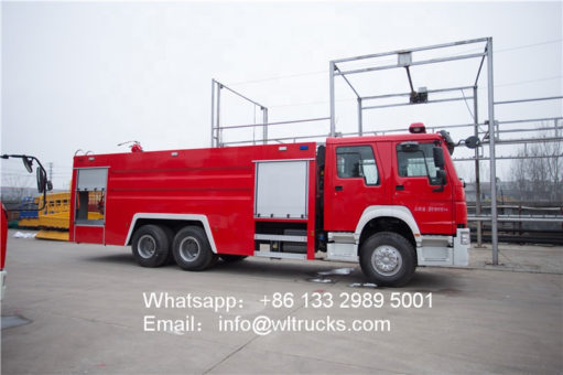 6x4 water tank fire truck