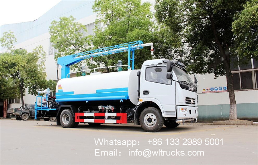 8000L vehicle disinfection channel Disinfectant mist spray truck