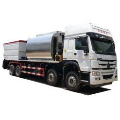 8X4 Sinotruk HOWO 9m3 Bitumen Tank and 14m3 Gravel Tank asphalt distributor truck