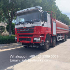 8x4 Shacman 25000 liter fire water truck
