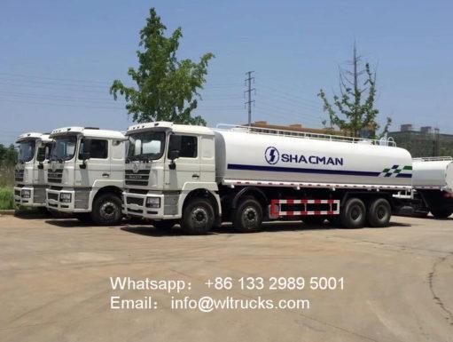 8x4 Shacman water truck