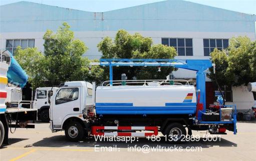 Disinfectant spray truck