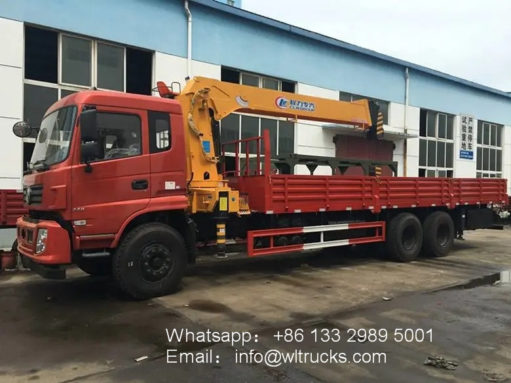 Dongfeng 10ton 12ton service truck with crane