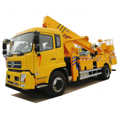 Dongfeng 24m to 32m telescopic boom aerial work bucket truck