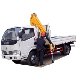 Dongfeng 2ton 3ton folding arm truck mounted crane