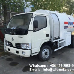 Dongfeng 5000liter lpg bobtail truck