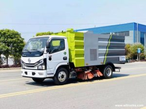Dongfeng Duolika D6 Euro VI road sweeper truck evaluation of the cab
