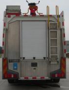 Dry powder fire truck ladder