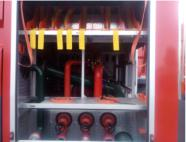Dry powder fire truck pipeline system