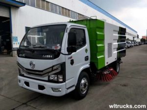 Euro VI Dongfeng 5 ton road sweeper