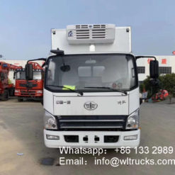 FAW 3 ton refrigerated delivery trucks