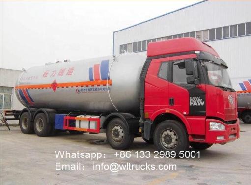 8x4 FAW 35000l mobile lpg filling truck