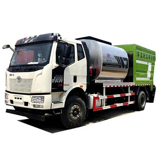 FAW 6m3 Bitumen Tank and 8m3 Gravel Tank Synchronous Chip Sealer asphalt trucks