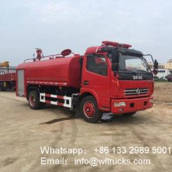 Dongfeng 6000 liter Fire water tank truck