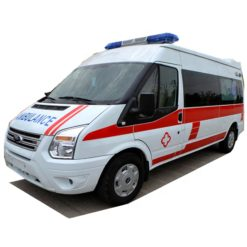 Ford Transit long-axle mid-roof ICU ambulance emergency