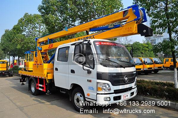 Foton 16m to 18m aerial working platform truck