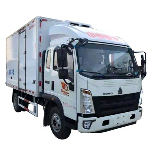 HOWO 5ton to 6ton cooling van truck