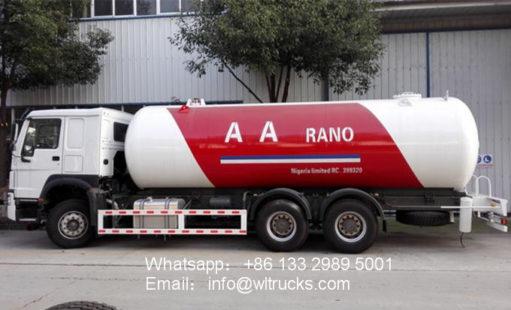 Howo 20000L to 25000L lpg tanker truck