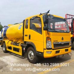 Sinotruk Howo 5000liter lpg delivery truck
