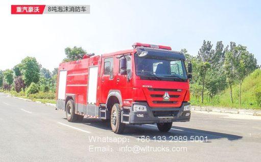 Howo 8000L Foam fire truck