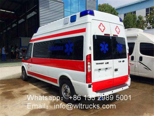 ICU ambulance vehicle