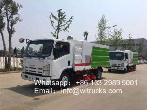 ISUZU KV600 5 ton road sweeper truck