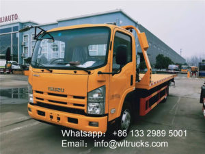 ISUZU elf 5 ton One Tow Two Flat Wrecker truck