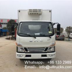 JAC 3 ton box refrigerated trucks