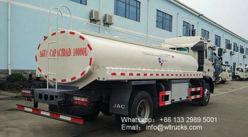 JAC 4000 gallon water tank truck