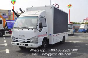 Japan ISUZU 4.2m mobile Led screen truck