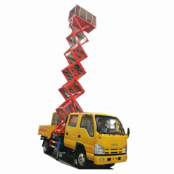 Japan ISUZU ELF 8m 10m 12m hydraulic lift platform truck