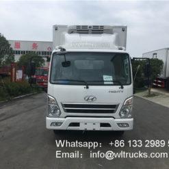 Korea Hyundai 14ft 3 ton refrigerated trucks