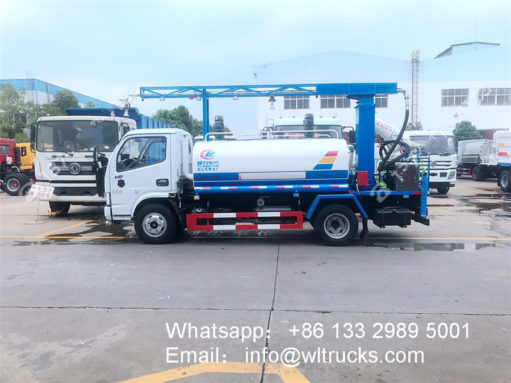 Mobile vehicle disinfection fogger spray truck