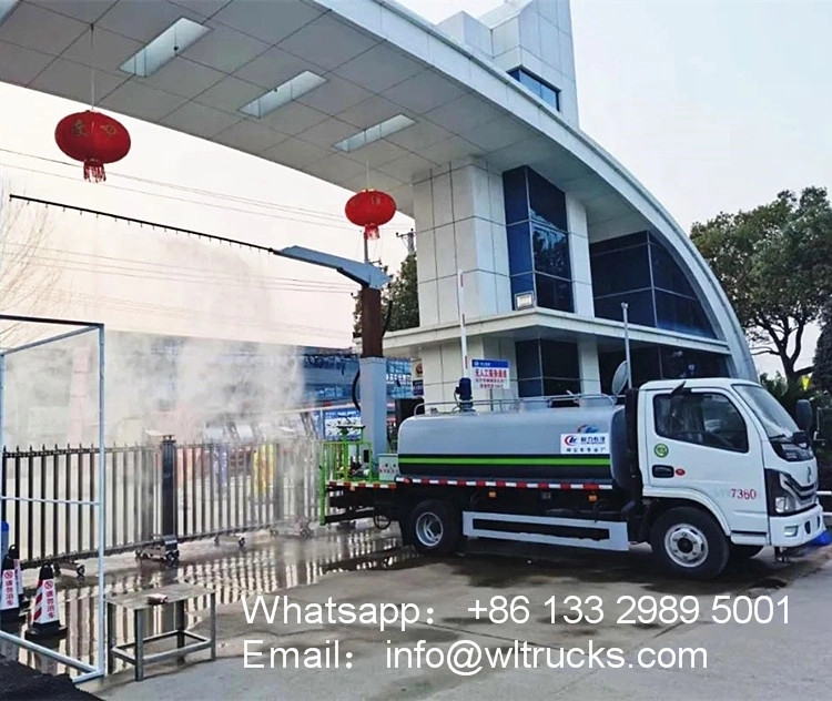 5000L Mobile vehicle disinfection tunnel system fogger spray truck