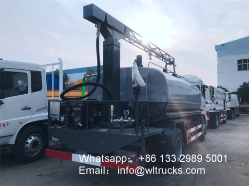 Railway dust suppression truck