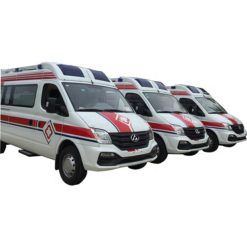 SAIC Maxus short wheelbase siren ambulance vehicle