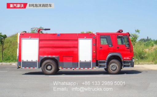 Sinotruk 8000L Foam fire truck