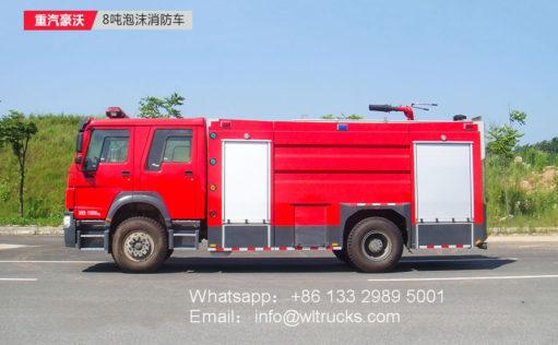 Sinotruk Howo 8000L Foam fire truck