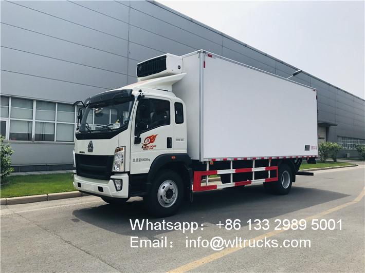 Sinotruk howo 10 ton to 15ton refrigerator trucks
