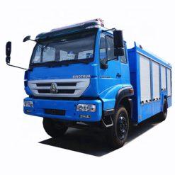 Sinotruk steyr 6000 liter to 8000 liter fire truck