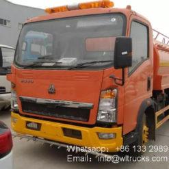 Sinotruk howo 5cbm water bowser truck