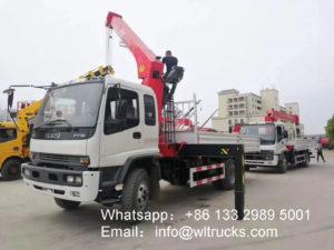 Straight arm truck mounted crane