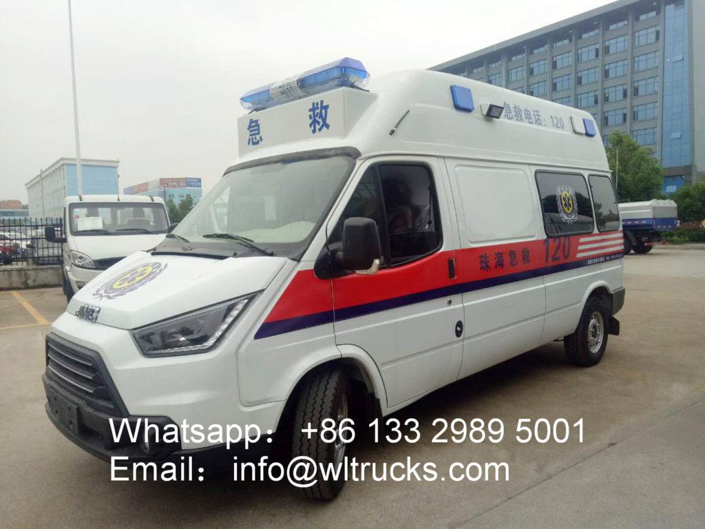JMC long-axis intensive care ambulance car