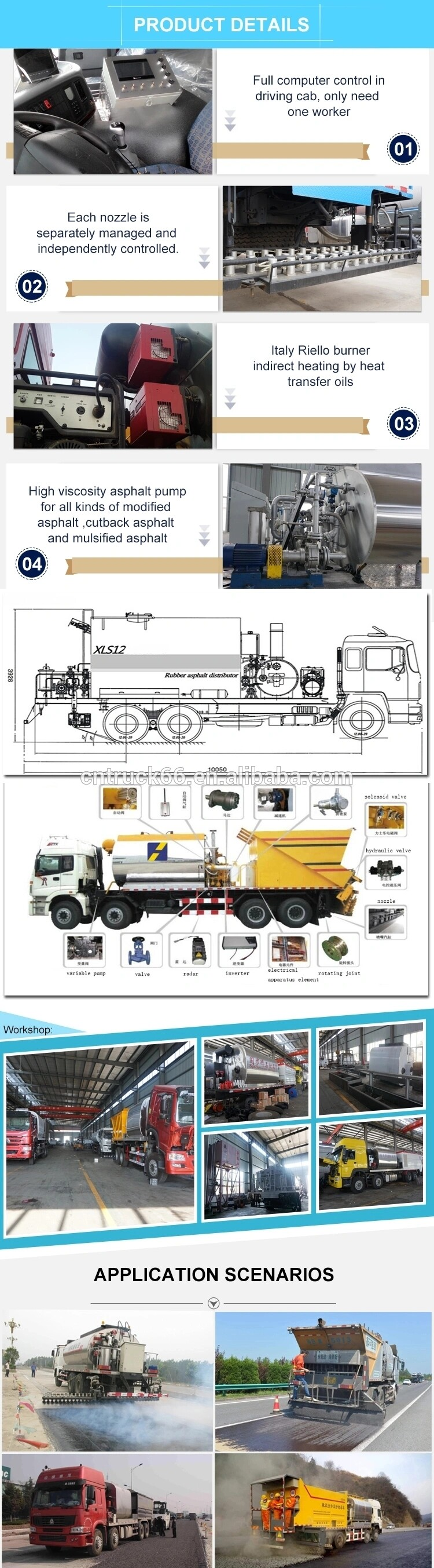 asphalt sprayer truck details