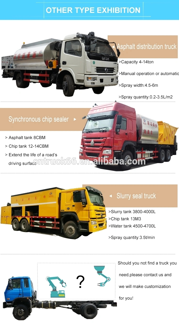 asphalt sprayer truck type exhibition