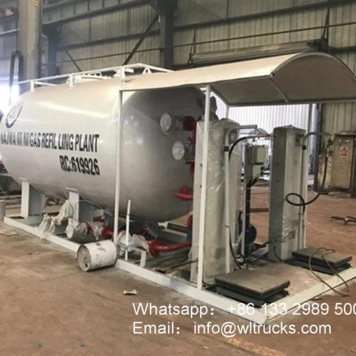 10000 liter lpg gas skid station