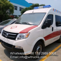 Dongfeng short wheelbase mobile icu hospital ambulance vehicle