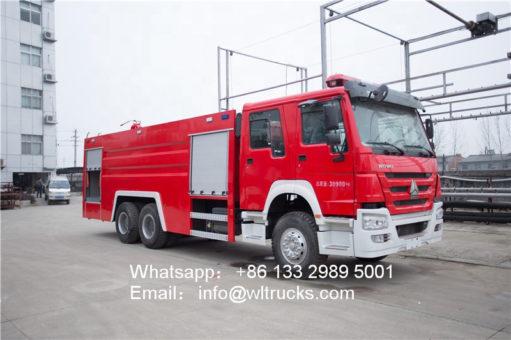 howo water tank fire truck
